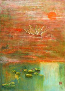Lotus au bord de l'eau