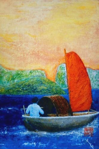La Pêche en barque